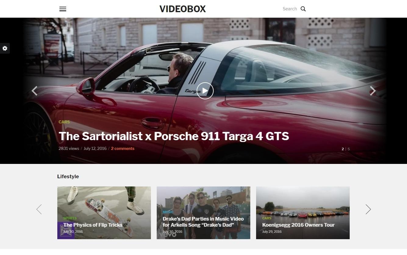 VideoBox youTube Clone WordPress Themes