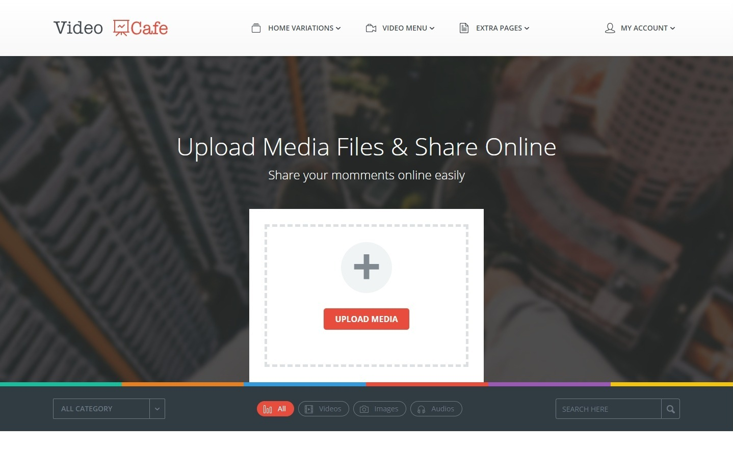 VideoCafe YouTube Style Theme with Front End Video Upload