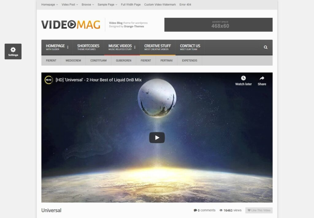 VideoMag WordPress Video Magazine Theme