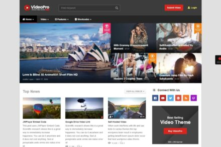 VideoPro Dedicated WordPress Video Theme