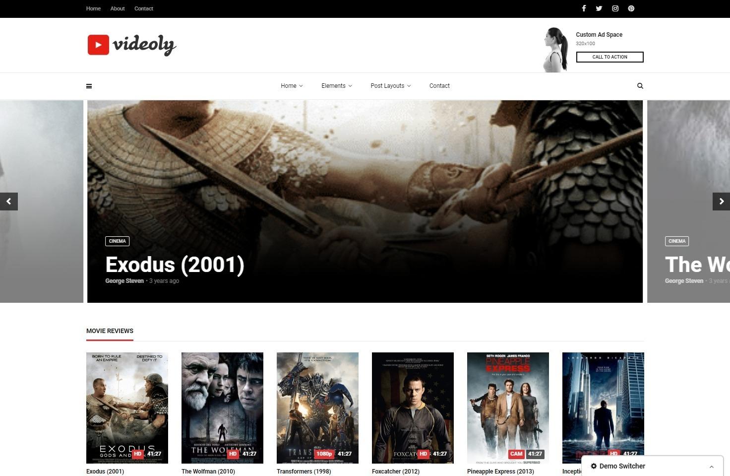 Videoly WordPress Theme Similar to YouTube
