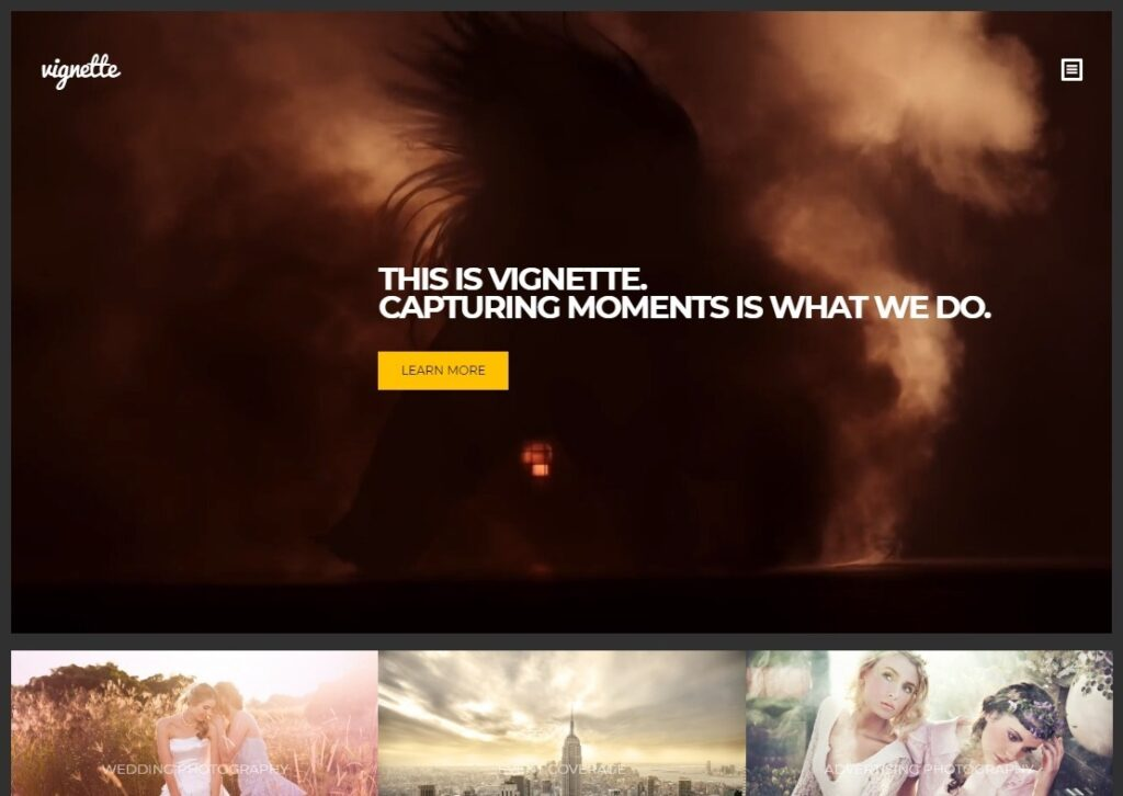 Vignette WordPress Theme with Video Background