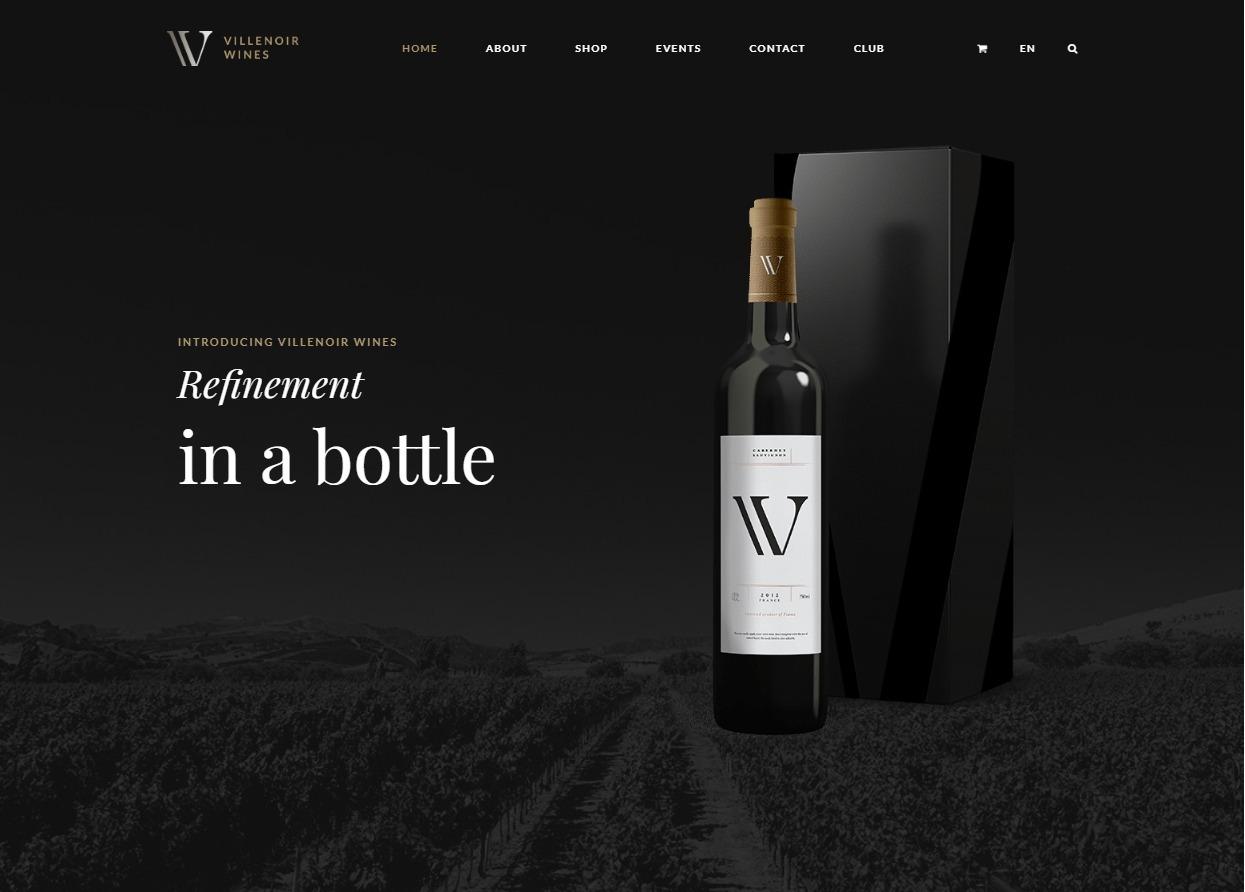 Villenoir Wine Maker WordPress Theme