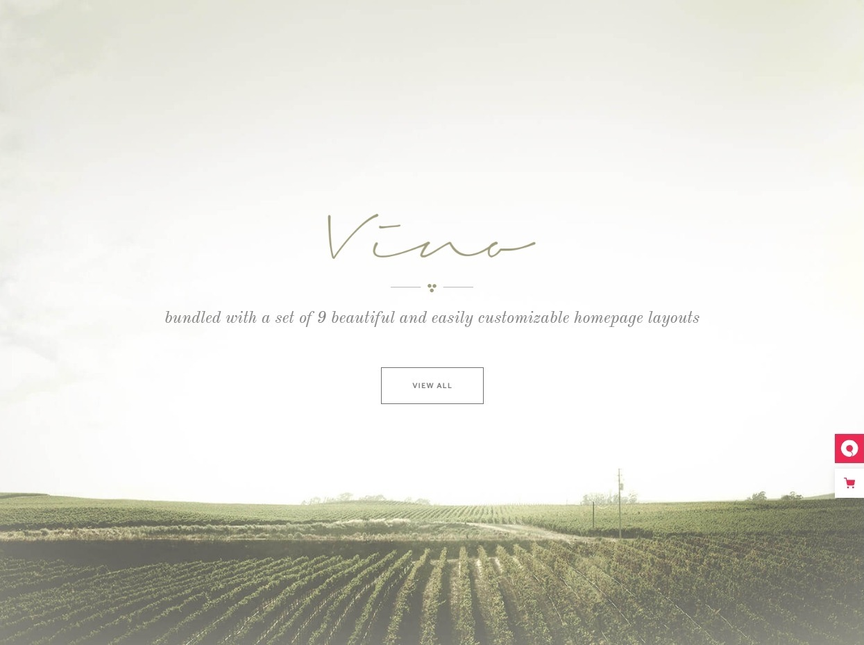 Vino Events Winery and Wine Shop WordPress Theme
