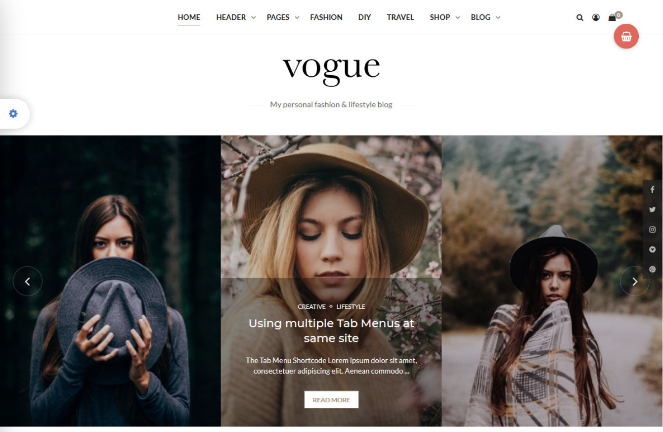 Vogue CD Personal Blog Theme with Minimal Style