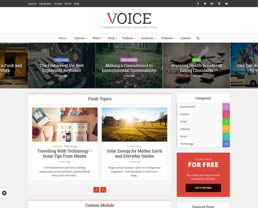 Voice Affiliate Marketing Blog Themes