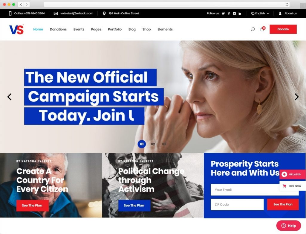 VoteStart WordPress Theme For Political Campaigns Scaled