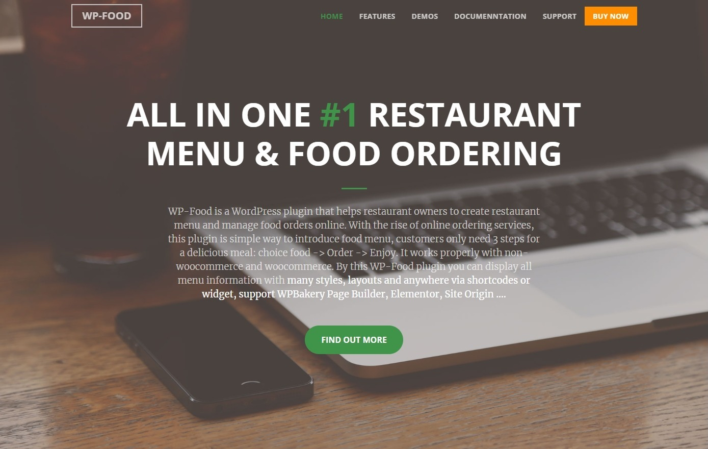 WP Food Restaurant Menu Food Ordering