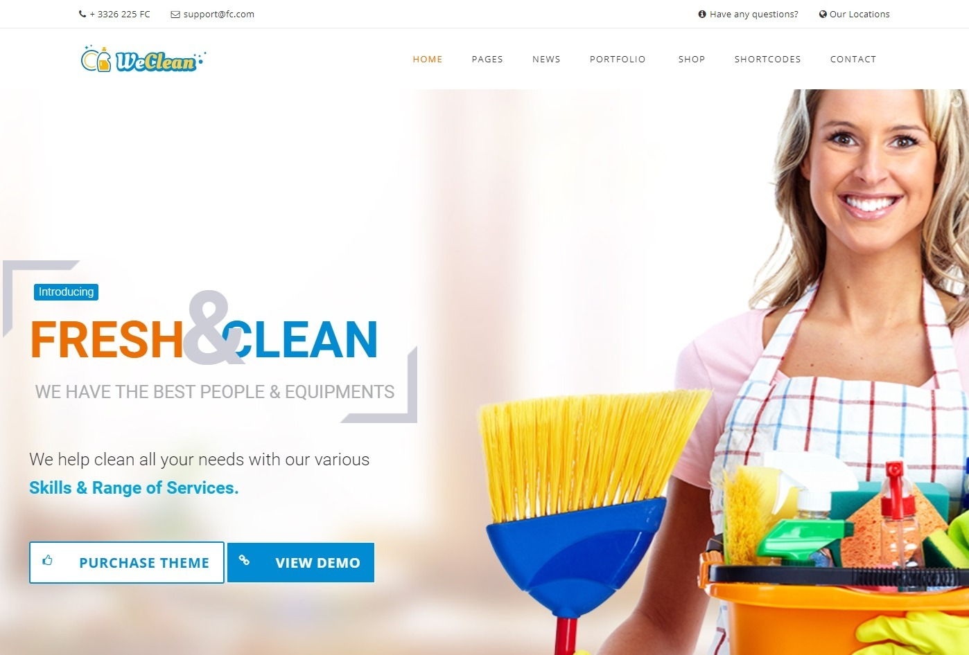 We Clean WordPress Theme for Cleaning Services and Trades