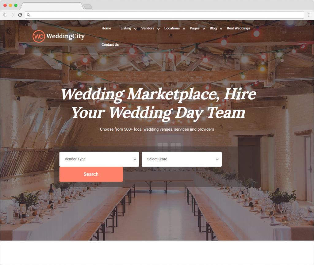 Wedding City WordPress Theme For Weddings