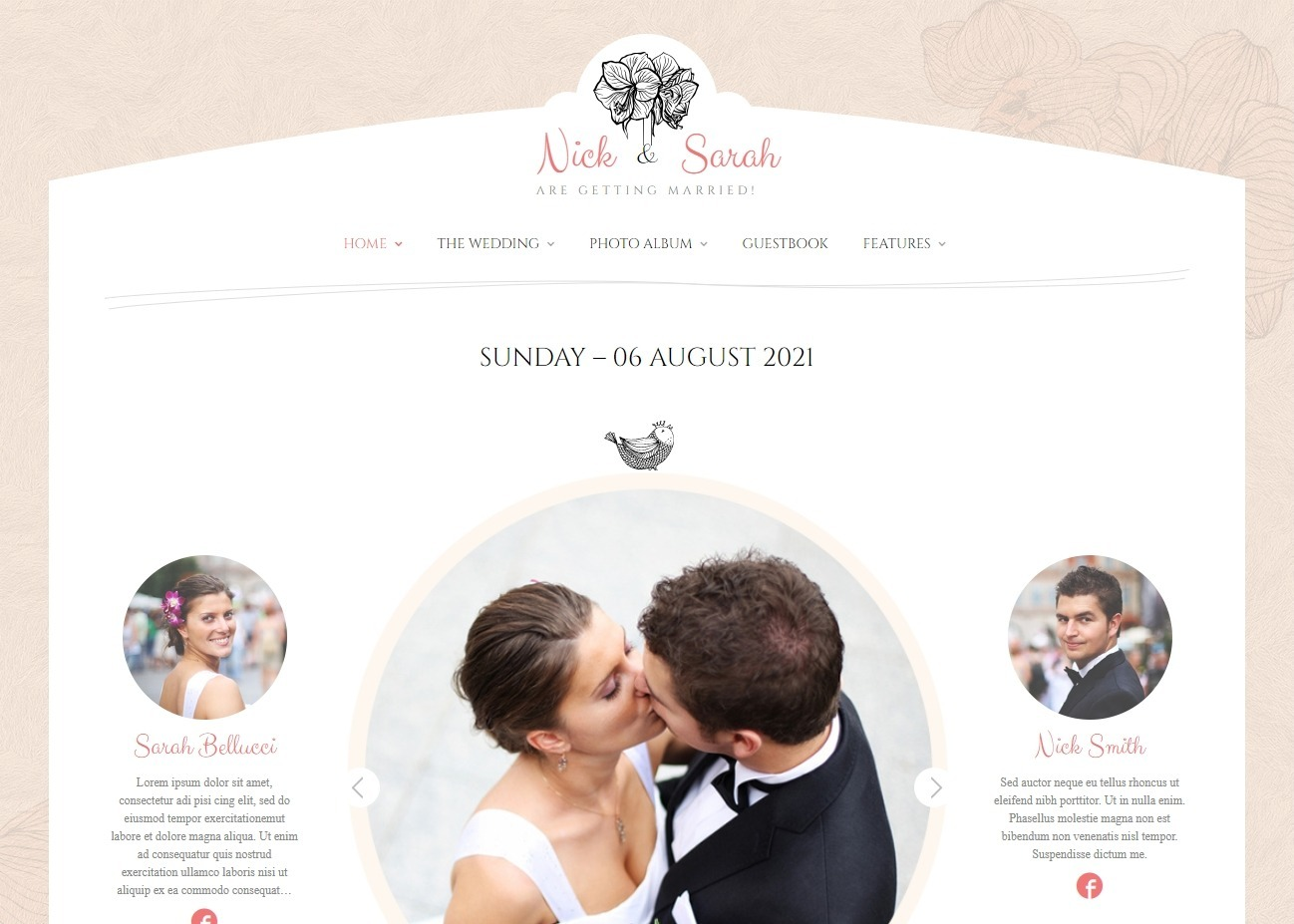 Wedding Day Premium WordPress Theme for Wedding Planners