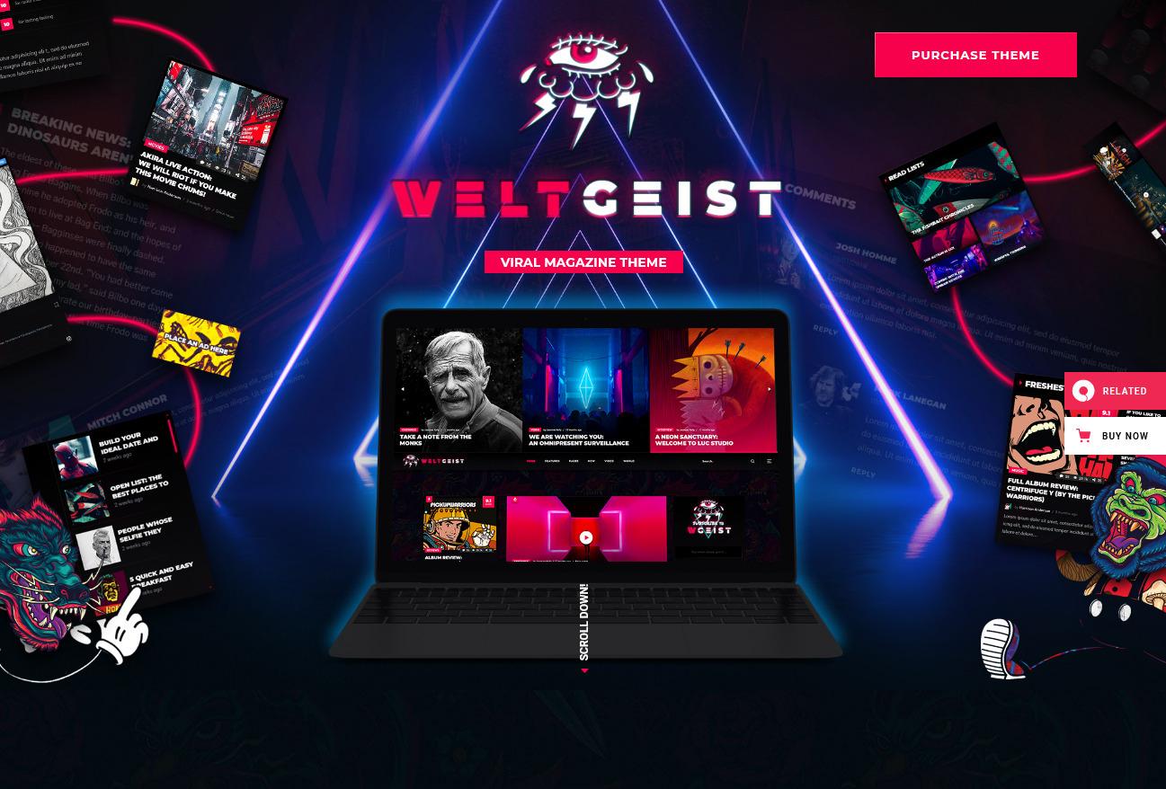 Weltgeist Viral Magazine WordPress Theme