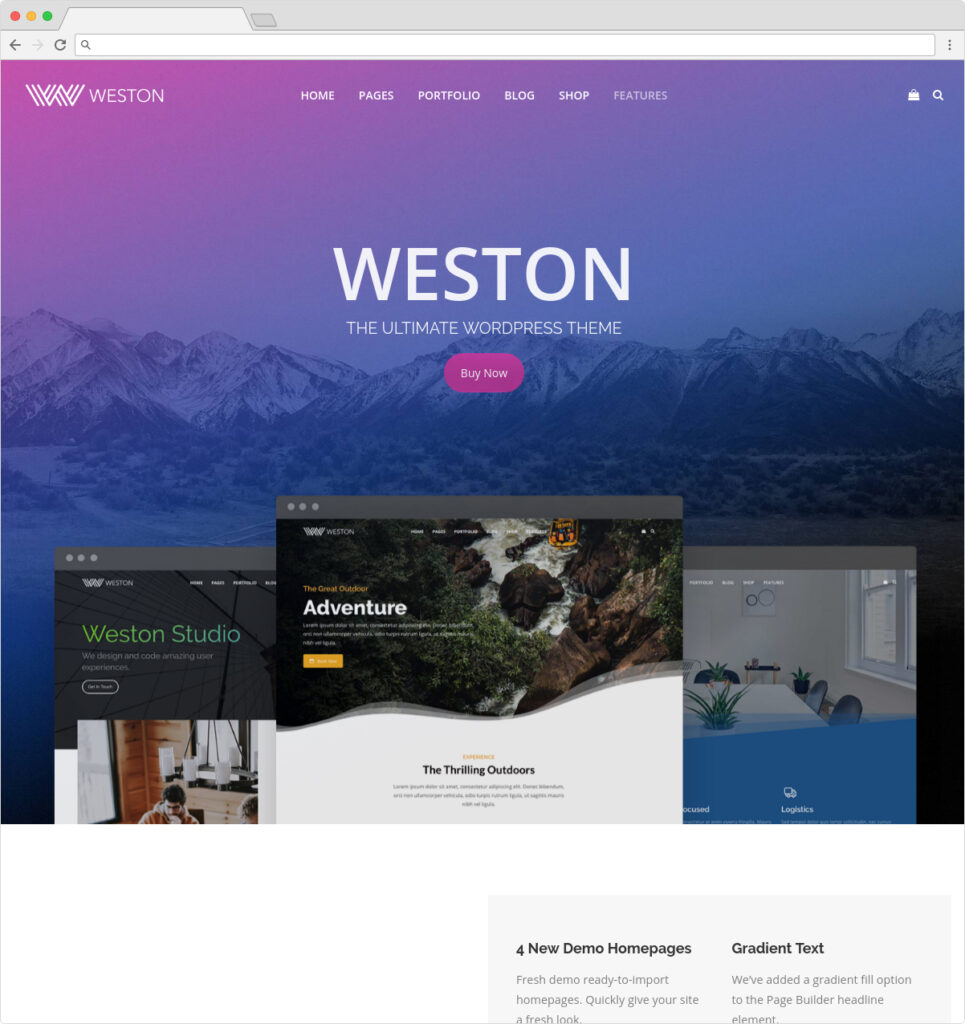 Weston WordPress Responsive Entrepreneurial Theme