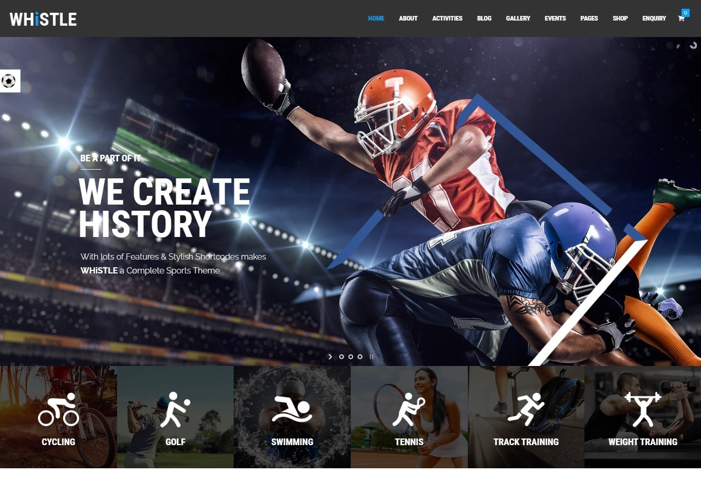 Whistle WordPress Sports Magazine Theme