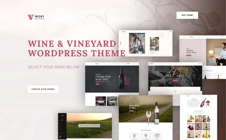 Wicky – Wine Shop WooCommerce Theme