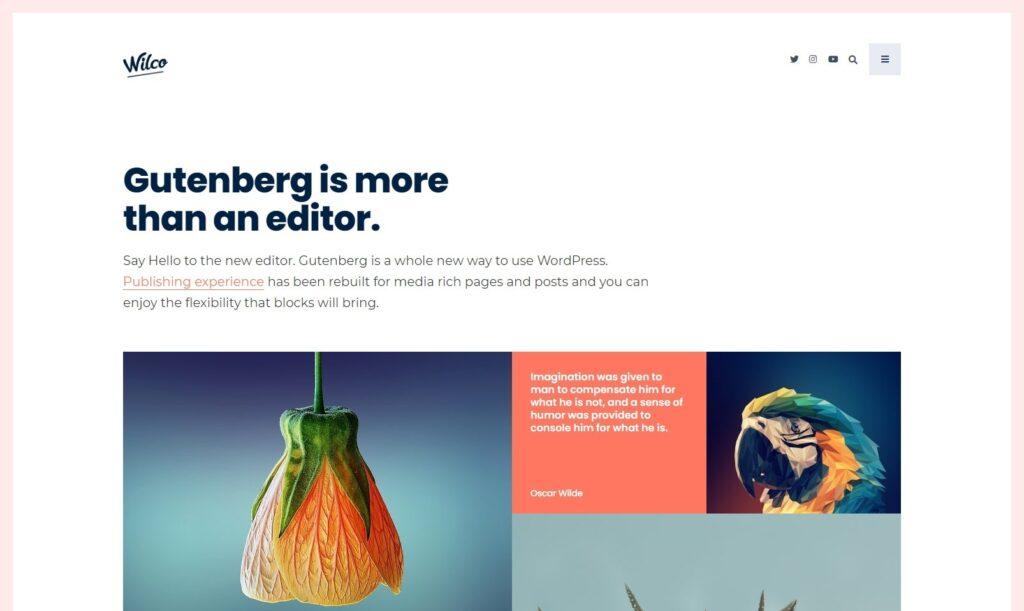 Wilco Gutenberg Friendly Typography WordPress Theme