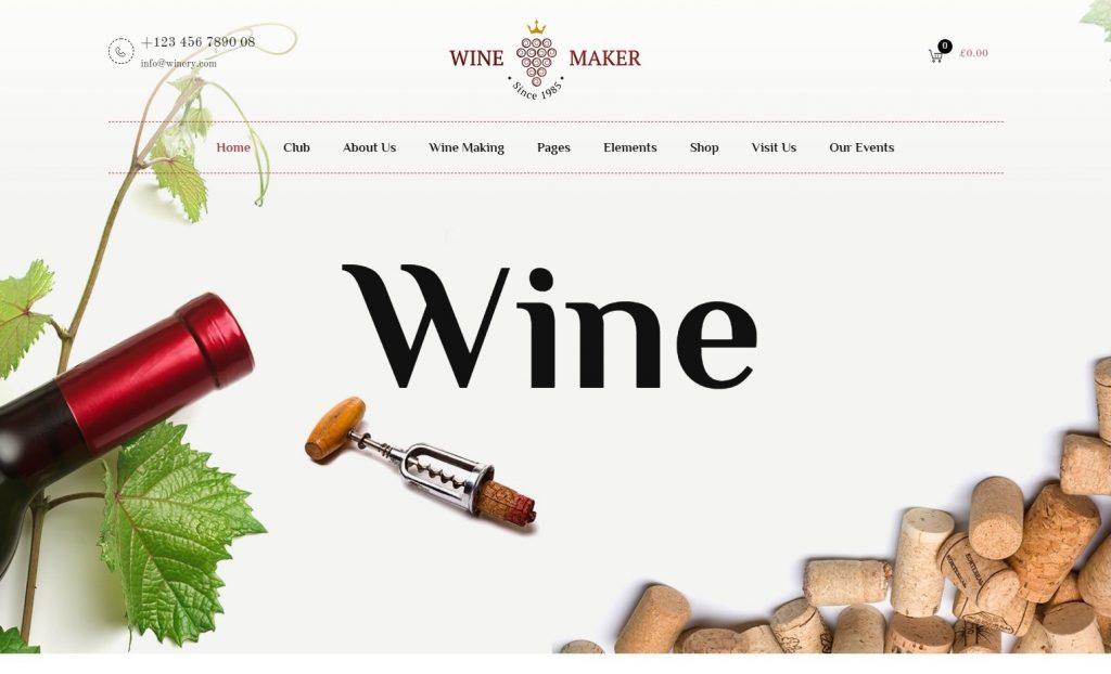 Wine Shop WordPress Themes