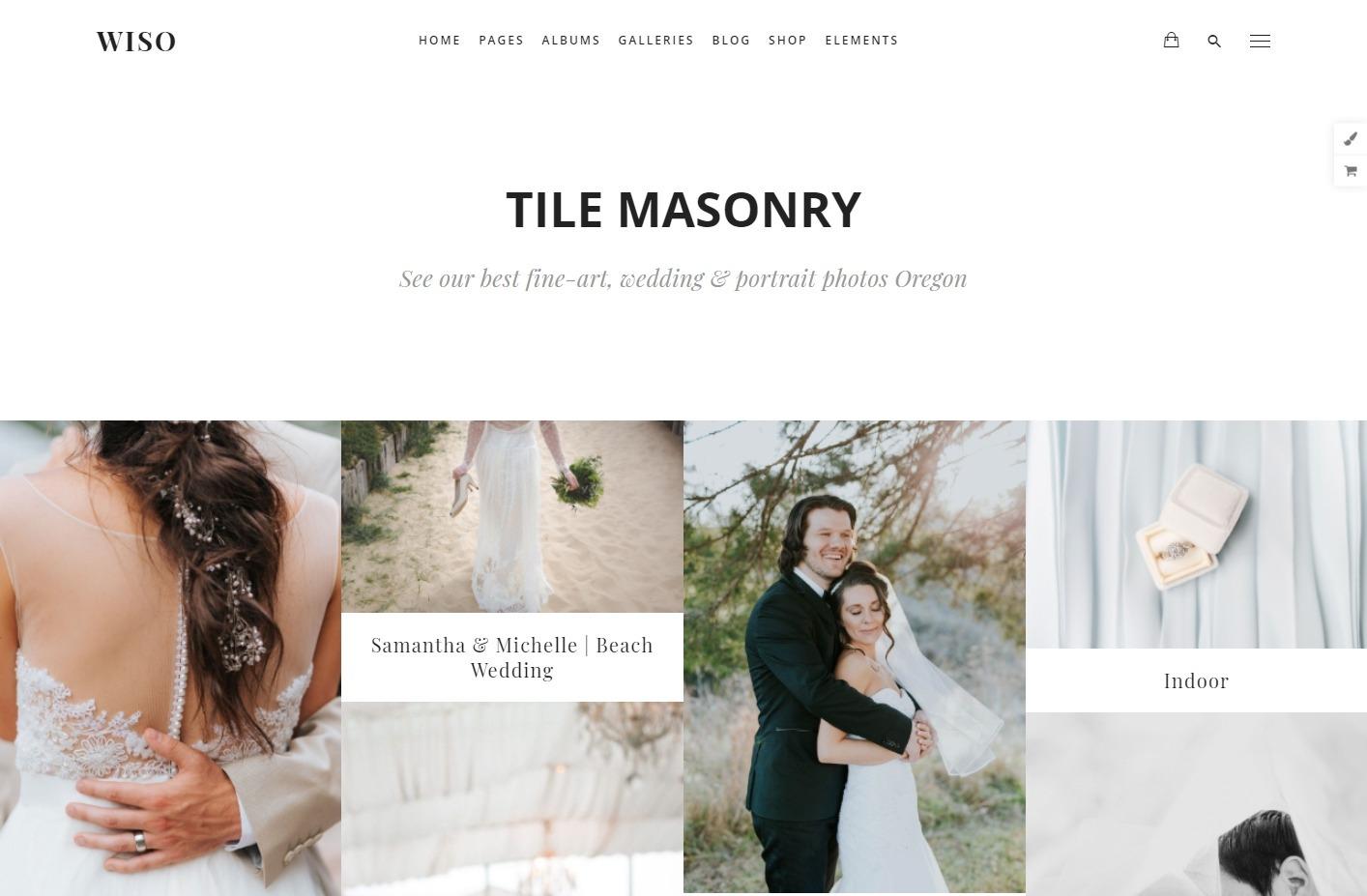 Wiso Masonry Grid Photo Album for Weddings