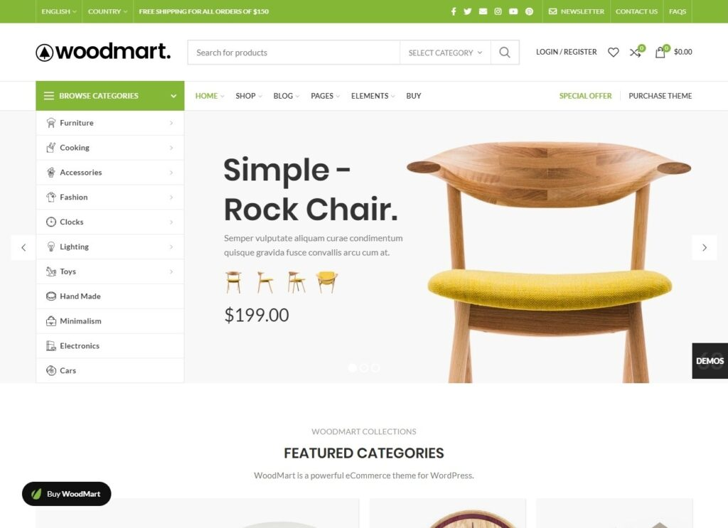 WoodMart Furniture Store Theme with WooCommerce