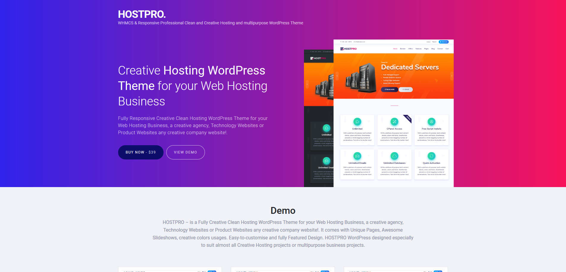 WordPress Hosting Themes