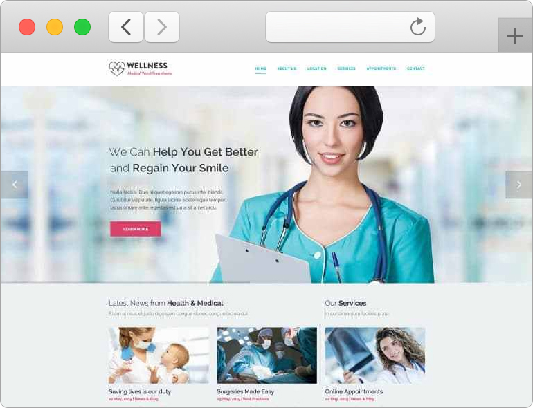 WordPress Medical Theme Wellness
