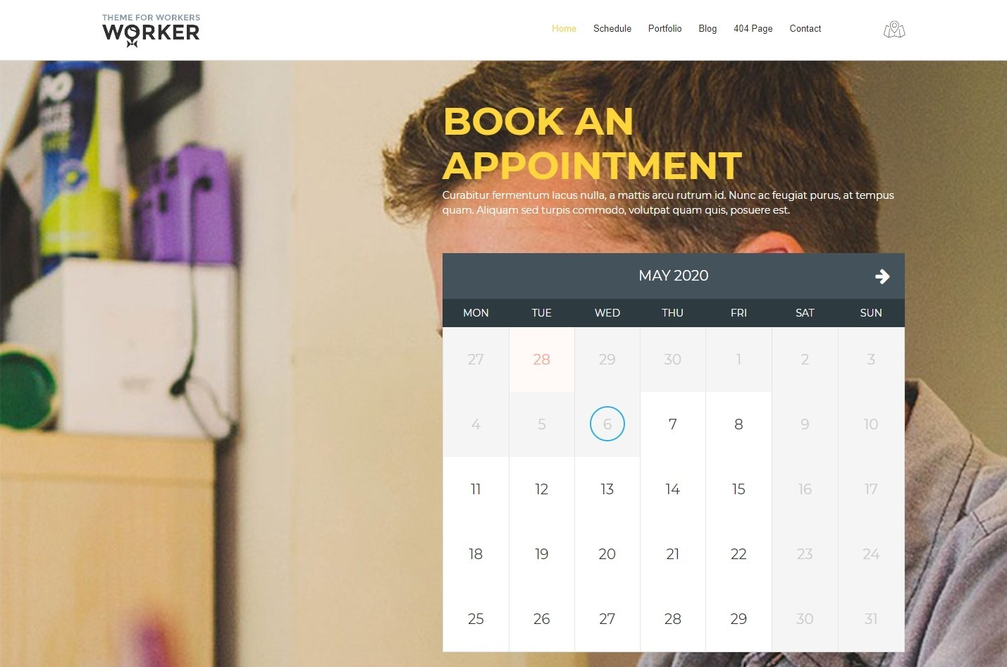 Worker WordPress Theme for Laborers and Tradespeople