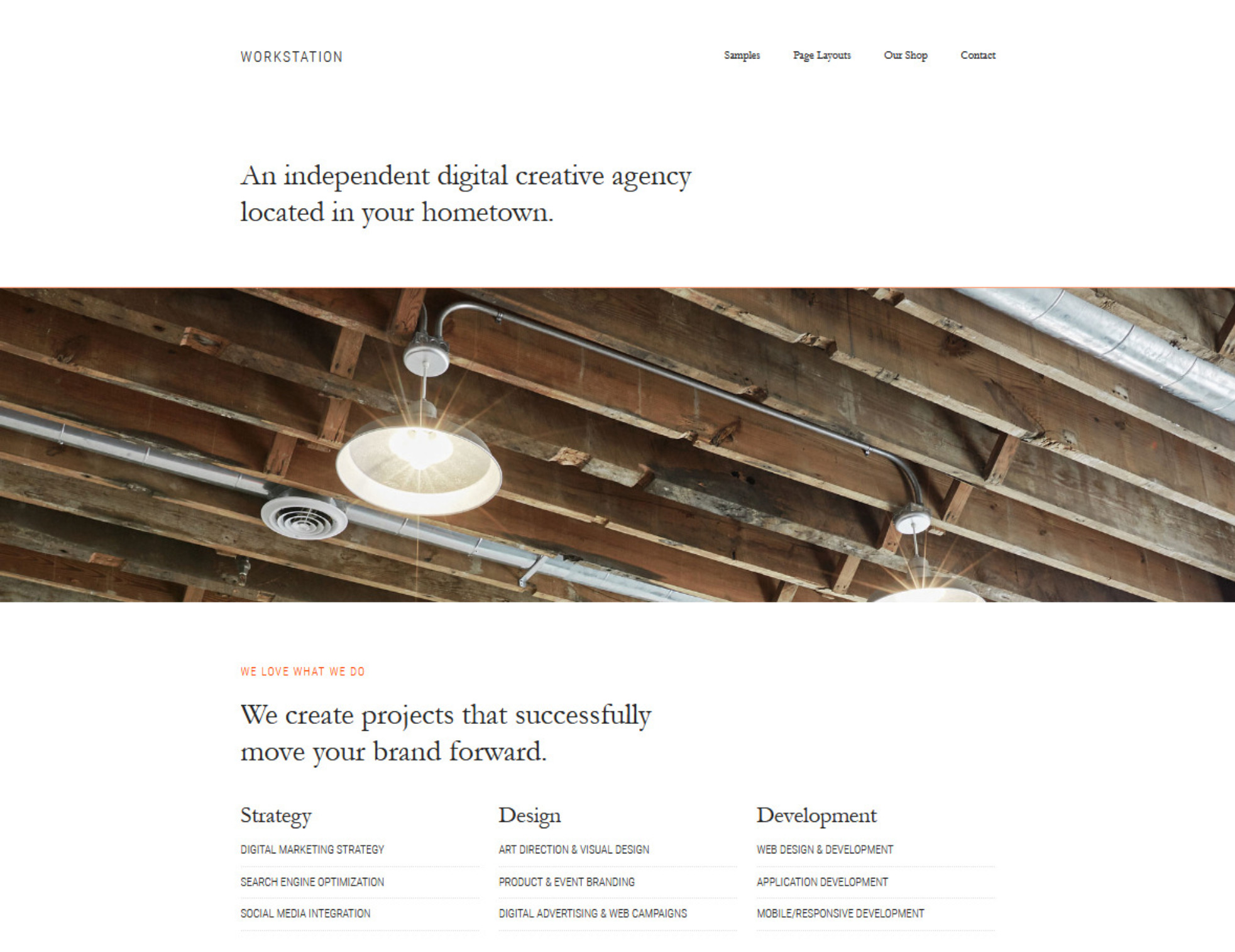Workstation Creative Independant Studio WordPress Theme