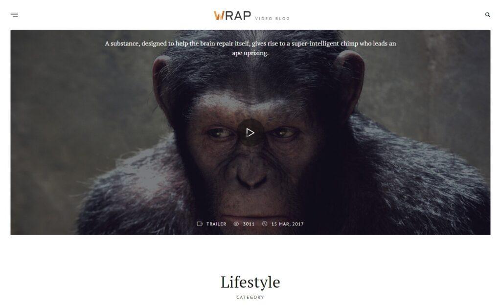 Wrap WordPress Video Blogger Theme