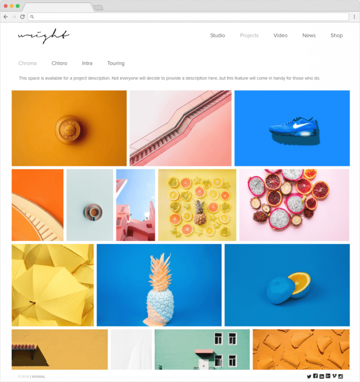 Wright Clean Flat Minimalist WordPress ECommerce Theme