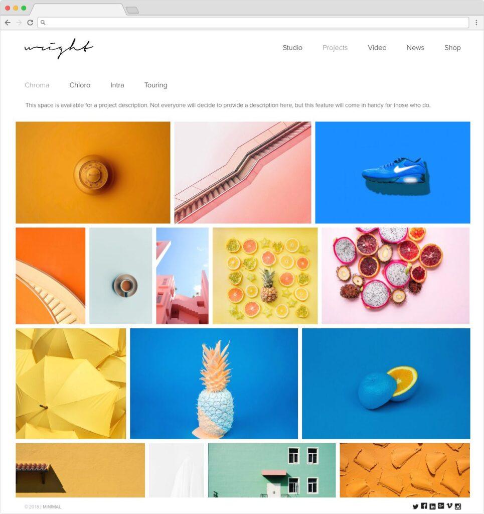 Wright Minimalist Portfolio And Blog Theme