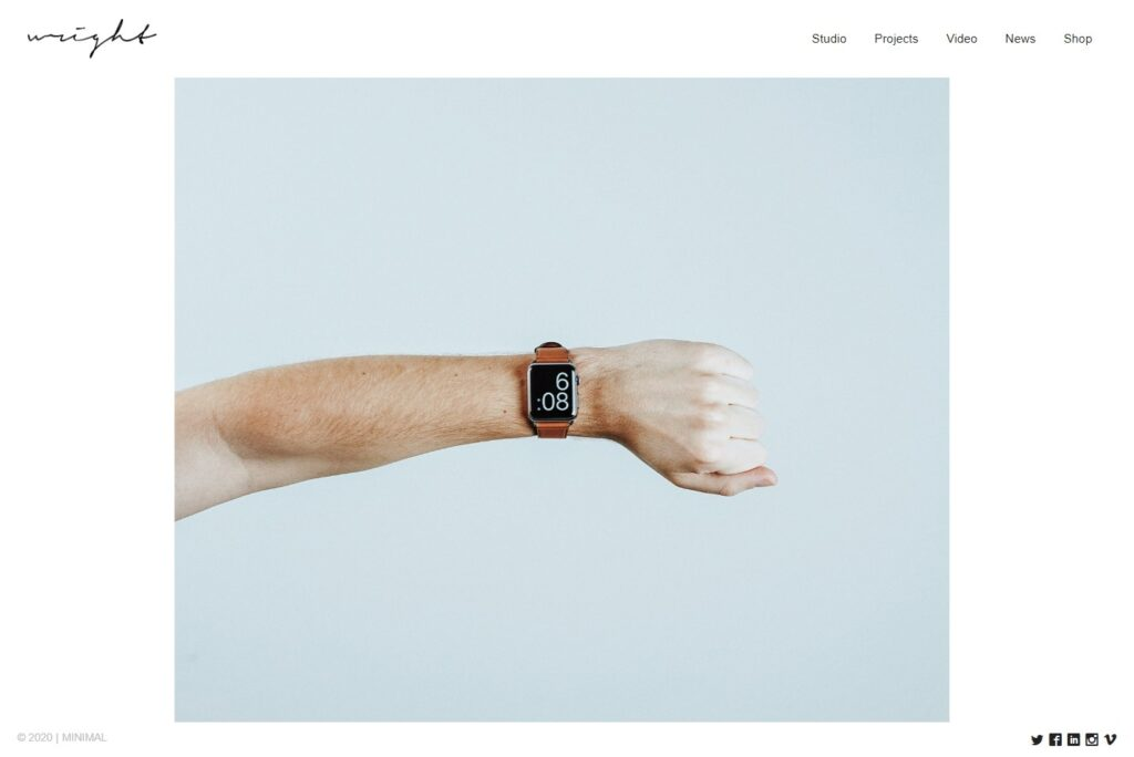 Wright WordPress Blog and Portfolio Theme with Minimal Style