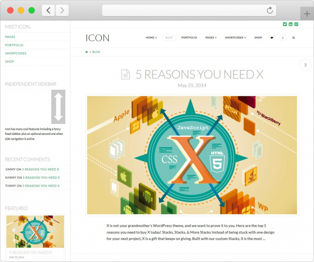 X WordPress Tumblr Style Theme