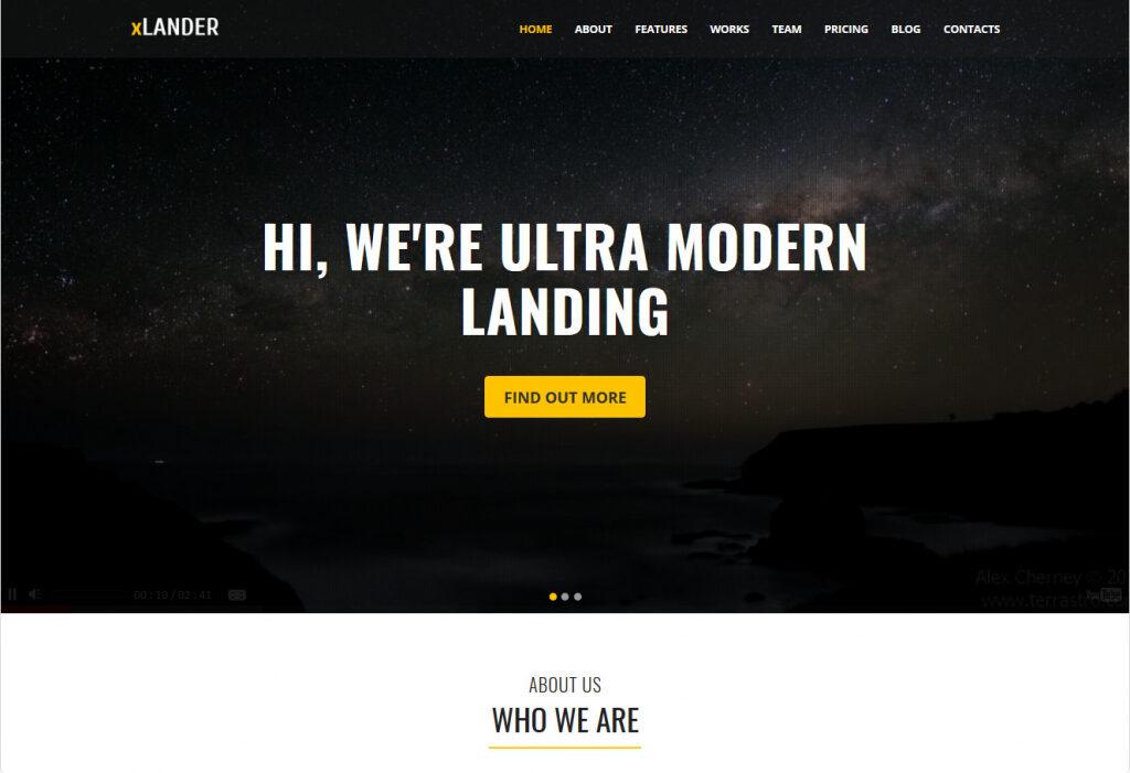 XLander WordPress Landing Page App Themes