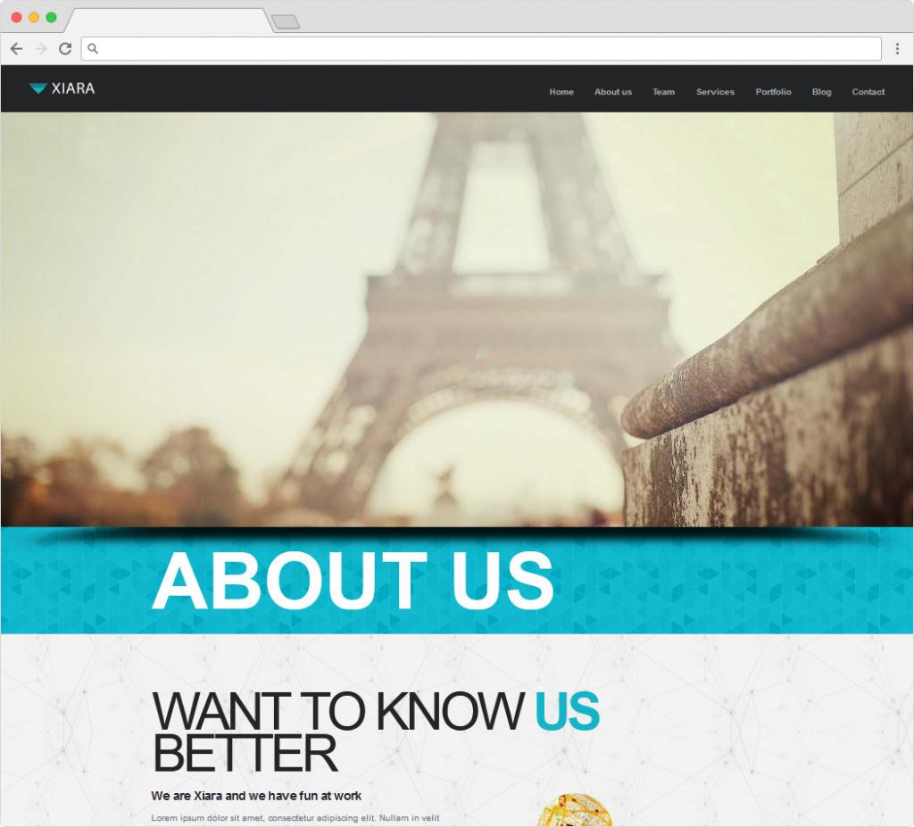 Xiara Single Page Business Theme For WordPress