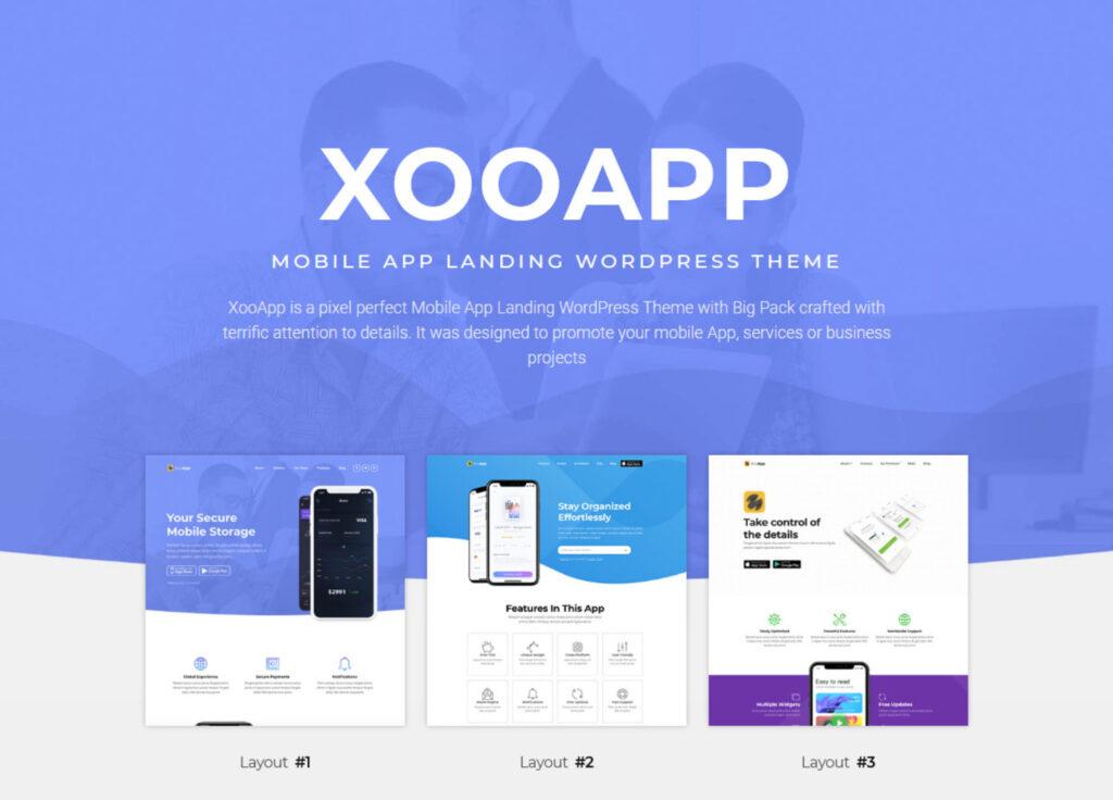 XooApp App Landing Page WordPress Theme
