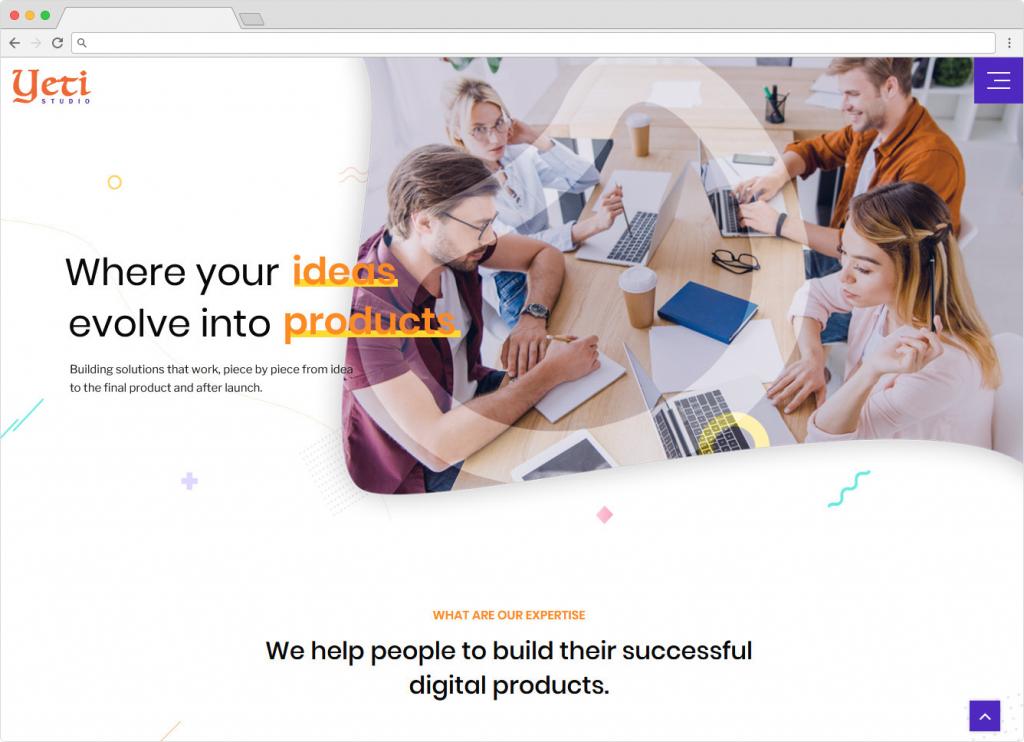 Yeti Portfolio Responsive WordPress Theme
