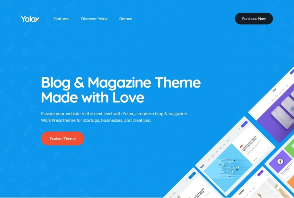 Yolox Clean Flat Magazine and Blog Theme