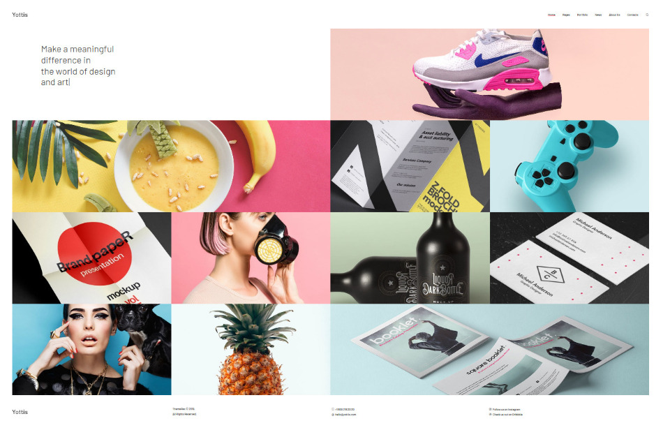 Yottis Personal Creative Portfolio WordPress Theme