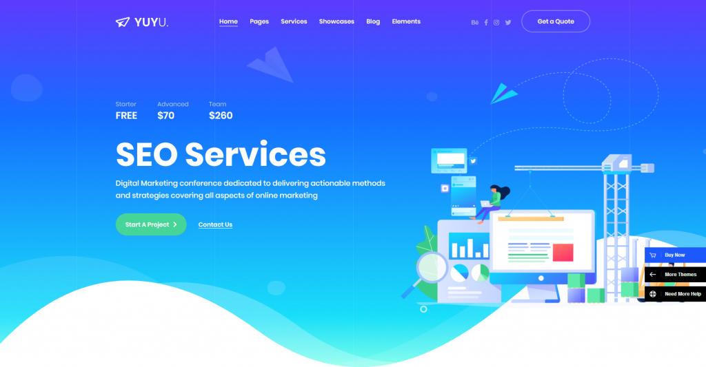 YuYu WordPress SEO Services Theme