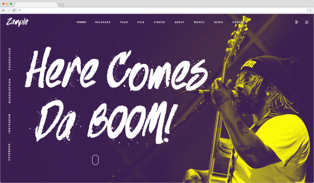Zample Example Hahahaha Music WordPress Theme