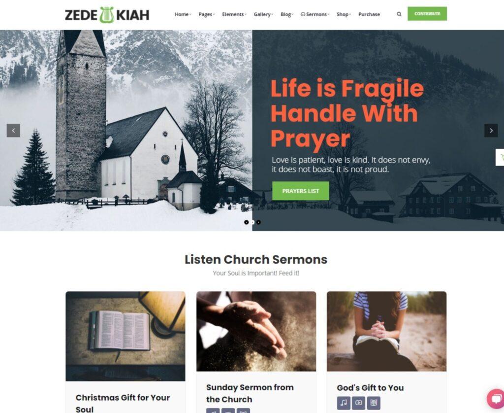 Zedekiah MultiPurpose Church Religion WordPress Theme