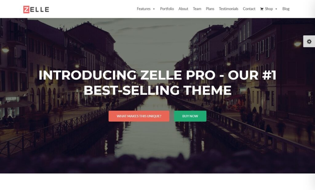 Zelle Pro One Page Theme with GPL License
