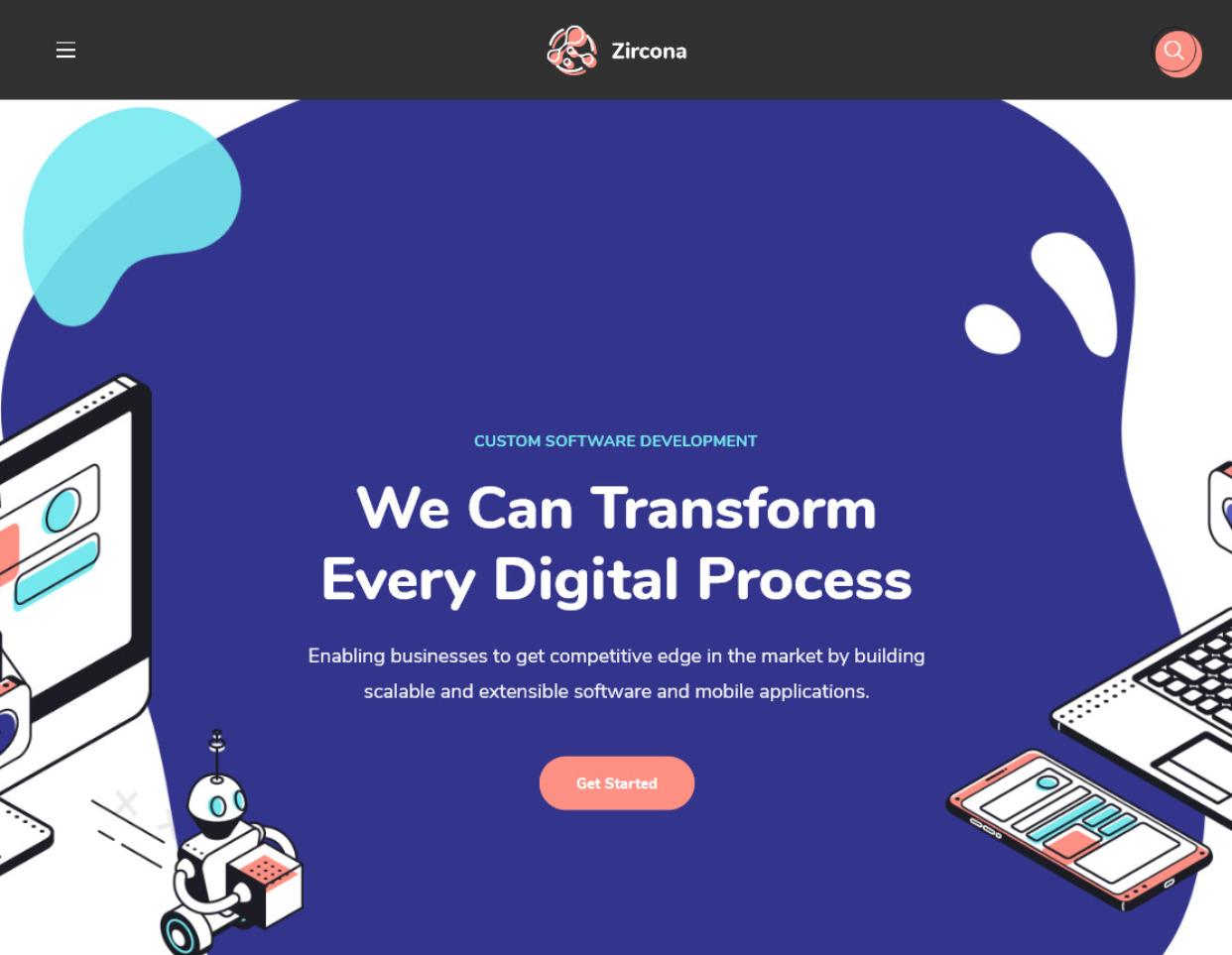 Zircona IT Solutions Technology WordPress Theme