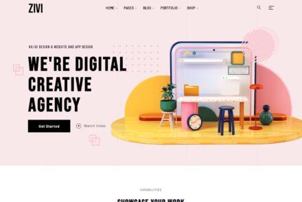 Zivi Contemporary Creative Agency Theme