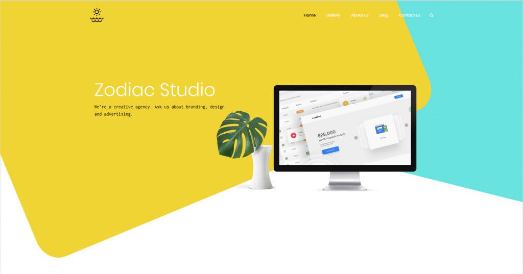 Zodiac Creative Portfolio WordPress Theme
