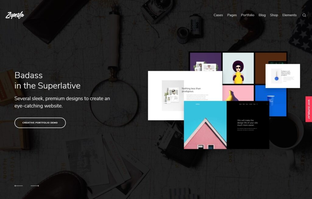 Zuperla Parallax Theme with Interesting Animations