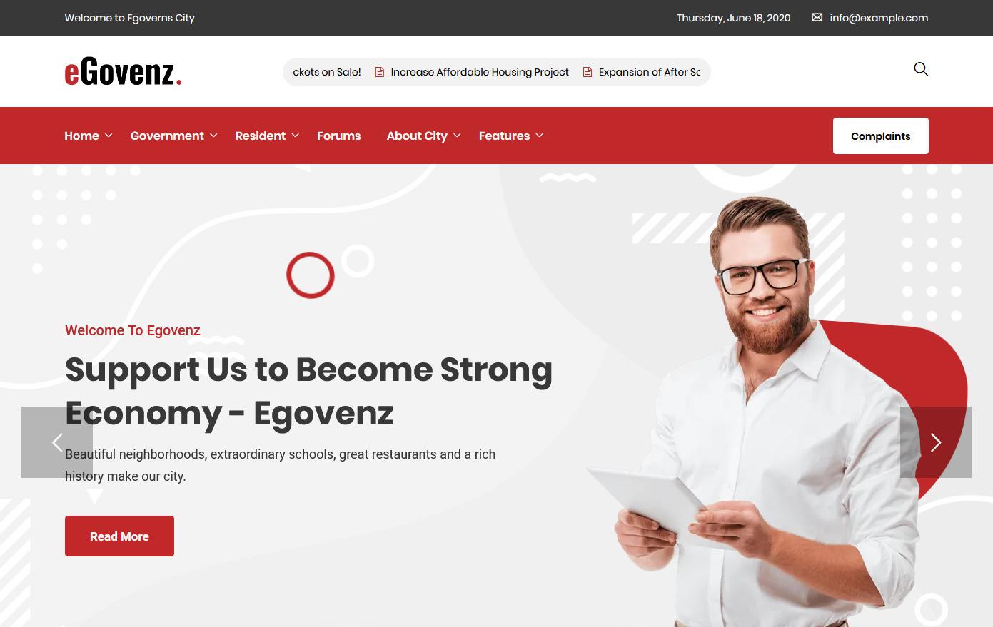 eGovenz WordPress Government Blog Theme
