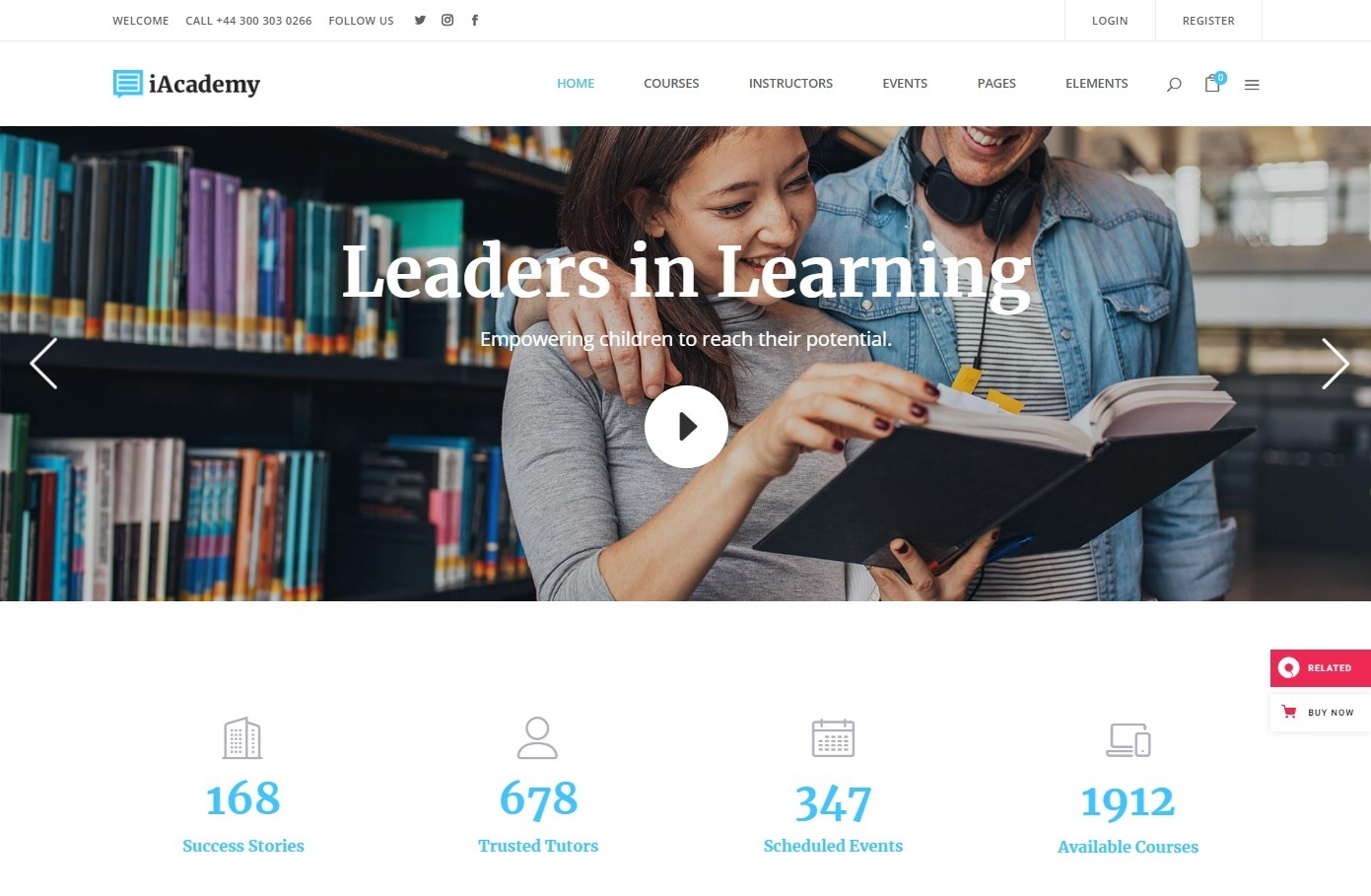 iAcademy a Comprehensive Learning Management System Education Theme