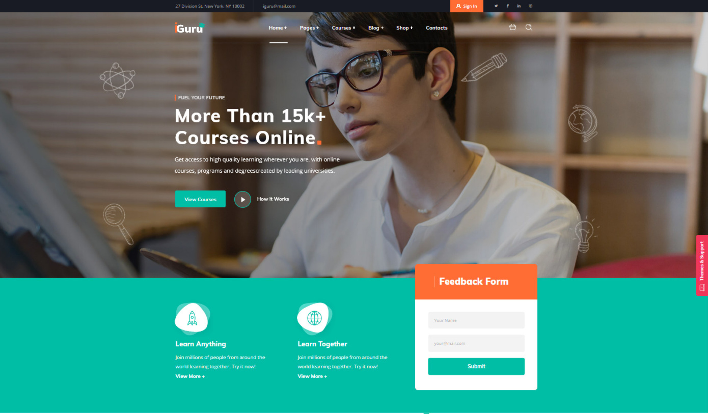 iGuru Education Courses WordPress Theme Online Classes