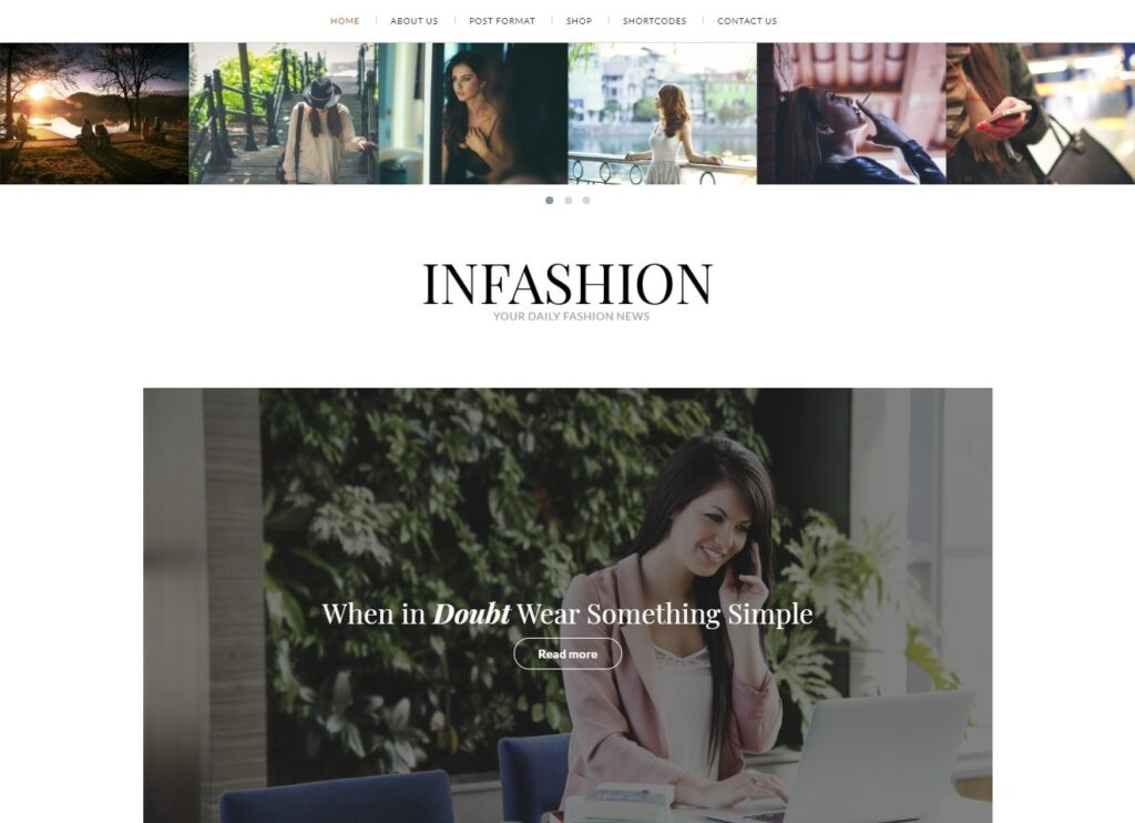 inFashion Clean Simple Minimalist Personal Blog Theme